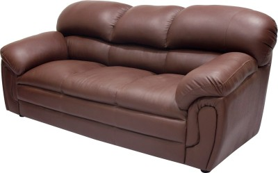 Wood pecker Leatherette Sectional Brown Sofa Set