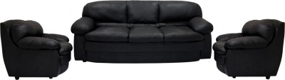 Woodpecker Lavendar Solid Wood 3 + 1 + 1 Black Sofa Set(Configuration - U-Shaped)