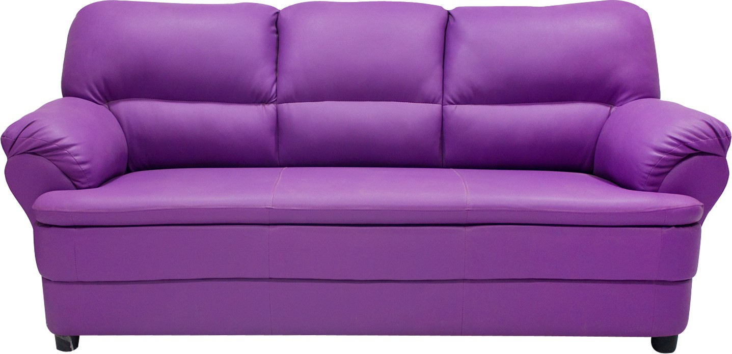 View Wood Pecker Leatherette Sectional Purple Sofa Set(Configuration - Straight) Price Online(Wood Pecker)
