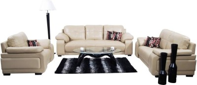 Homecity GLORIA Leatherette 3 + 2 + 1 Beige Sofa Set(Configuration - Straight)