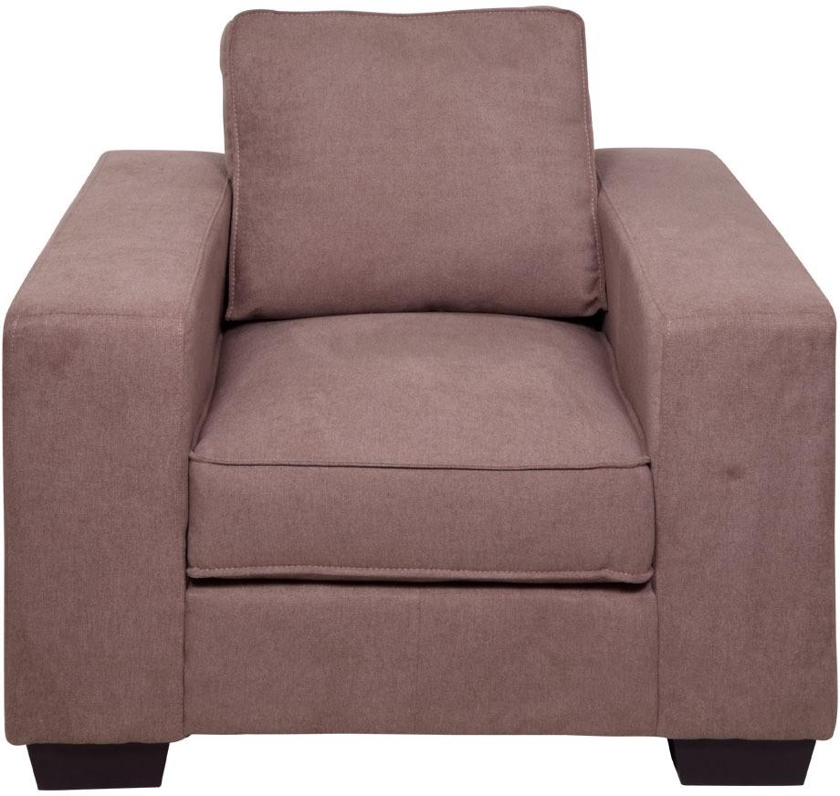 View Evok Zaira Fabric 1 Seater Sofa(Finish Color - Earthy Brown) Price Online(Evok)