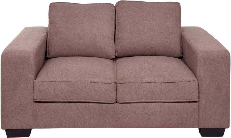 View Evok Zaira Fabric 2 Seater Sofa(Finish Color - Earthy Brown) Price Online(Evok)