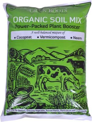 Green Roots Organic Soil Mix Soil Manure(990 g Powder)