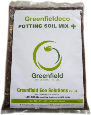 Greenfieldeco 100% Organic Potting Soil Mix Plus - Fortified With Cocopeat & Neem Cake Soil Manure