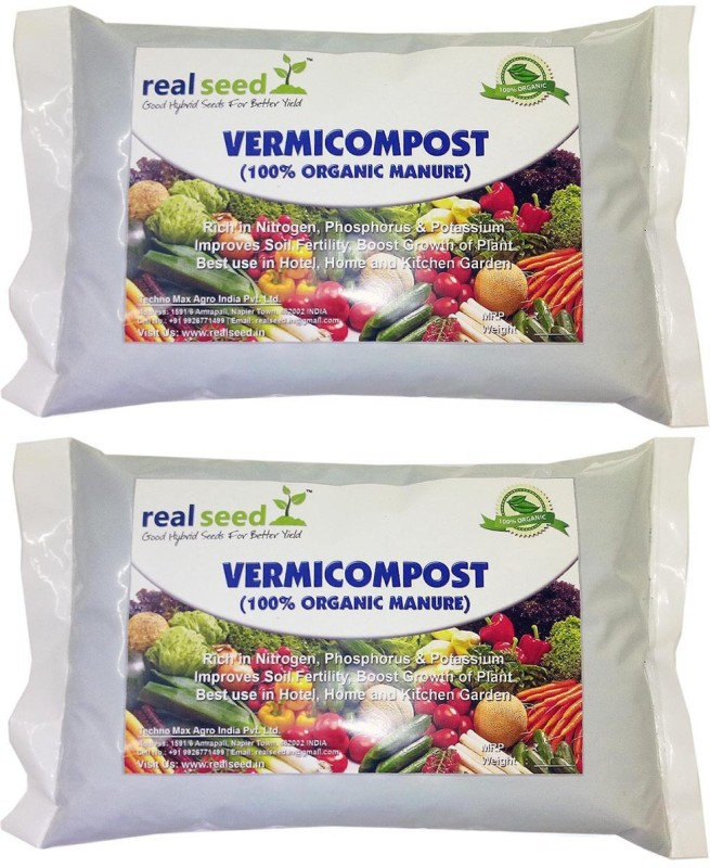 Real Seed Vermicompost 100% Organic Soil Manure(1000 g Powder)