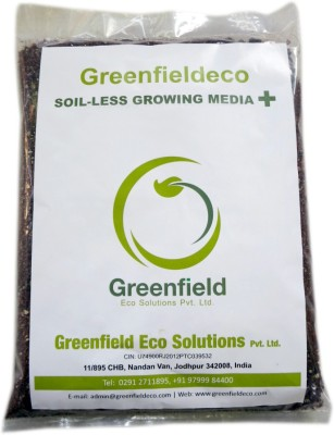Greenfieldeco Superior Quality Soil Less Growing Media Plus-Fortified with Bio-Char & Neem Cake Soil Manure