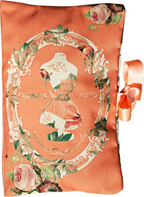 Puneet Gupta Corset Peach Lingrie Folder Poly-canvas Laundry Bag