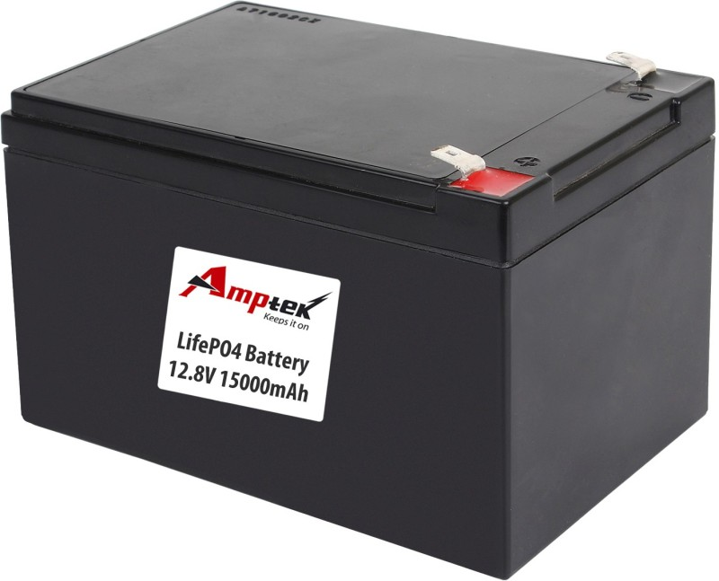 AMPTEK 12.8V 15000mAh LiFePo4 Battery Pack(5A) Gel Solar Battery(12.8 V)