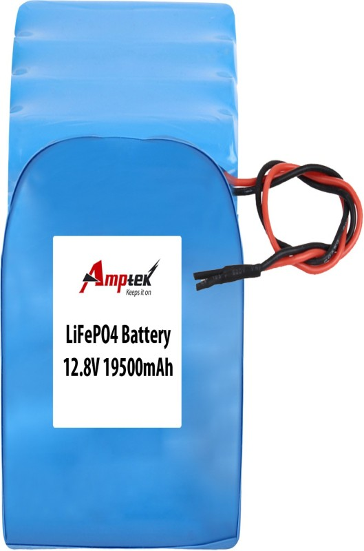 AMPTEK 12.8V 19500mAh LiFePo4 Battery Pack(5A) Gel Solar Battery(12.8 V)