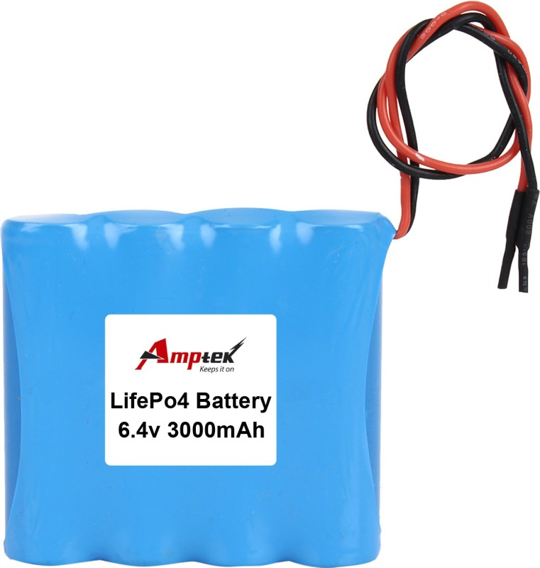 AMPTEK 6.4V 3000mAh LiFePo4 Battery Pack(3A) Gel Solar Battery(6.4 V)