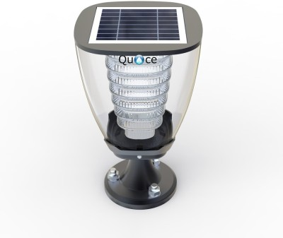 Quace High Quality Solar Pillar Light - 2 Nights illumination on Full Charge Solar Light Set(Floor Mounted Pack of 1)