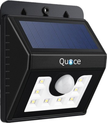 Quace 8 LED Bright Outdoor Garden 3 Intelligent Modes Solar Light Set(Wall Mounted Pack of 1)