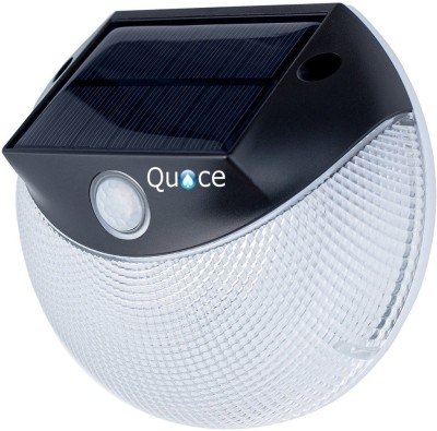 Quace Motion Activated Double Mode - Warm + Cool White - Upto 3 nights illumination on Full Charge Solar Light Set(Wall Mounted Pack of 1)