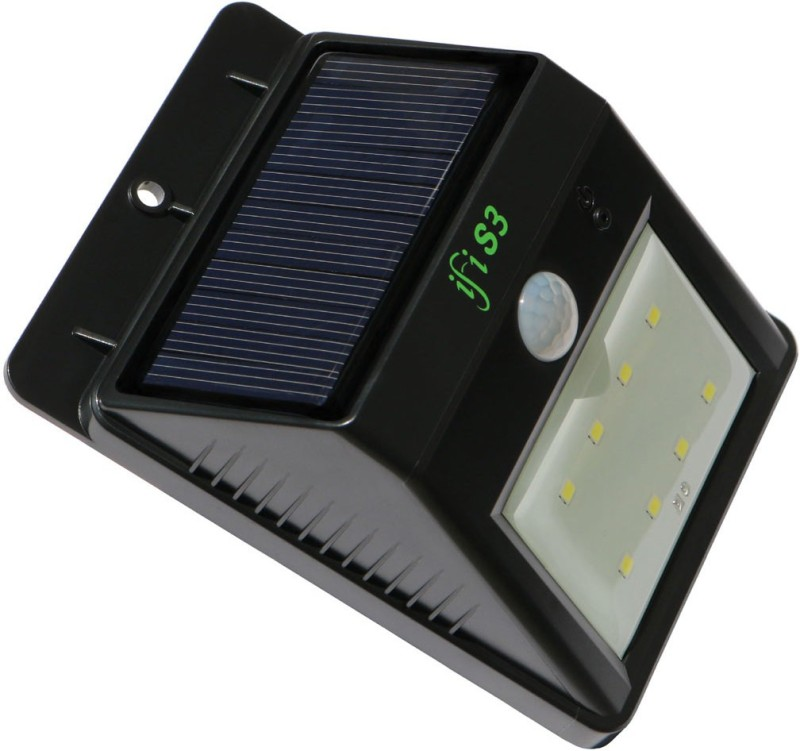 IFITech IFITECH™ SOLAR LIGHT - REV3 (WITH DOUBLE INTENSITY)-SLL301-8 Solar Light Set(Wall Mounted Pack of 1)