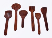 Woodenclave Proficio Wooden Spatula(Pack of 6)