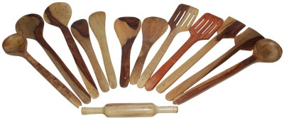 THW Cooking & Serving Spoon,Kitchen Tools , or Ladle Set Wooden Spatula