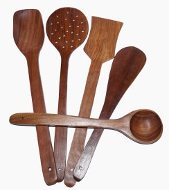 sparkle india Wooden Spatula(Pack of 5)