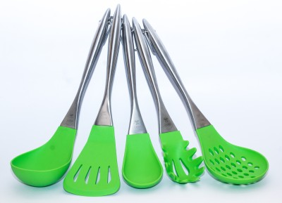 BASICS by kitchengossips Silicone Serving Spoon, Cooking Spoon Set