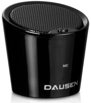 Dausen Pure Decibel Bluetooth Portable Bluetooth Mobile/Tablet Speaker(Black, 1.0 Channel) at flipkart