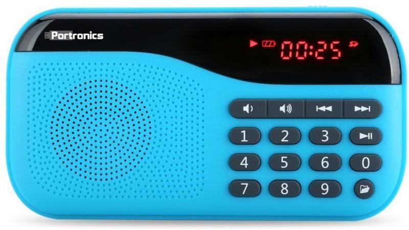 Portronics POR142 Portable Mobile/Tablet Speaker(Blue, NA Channel)