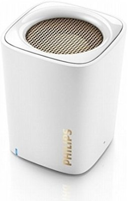 Philips BT100W/00 Bluetooth Mobile/Tablet Speaker(White, 1 Channel)