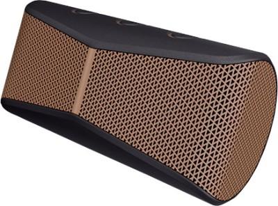 Logitech X300 Portable Bluetooth Laptop/Desktop Speaker(Brown & Black, 2 Channel)