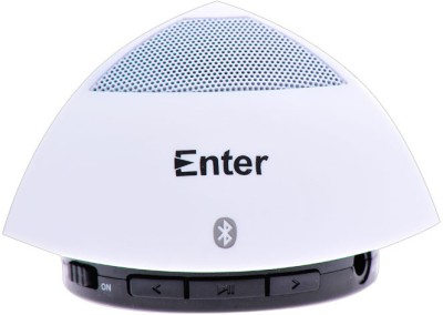 Enter E-300 1.0 Bluetooth Speaker(White, 1 Channel)