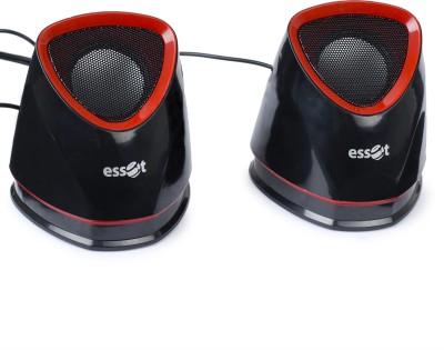 Essot 2.0 Stereo Multimedia Speaker(Black+Red) Laptop/Desktop Speaker