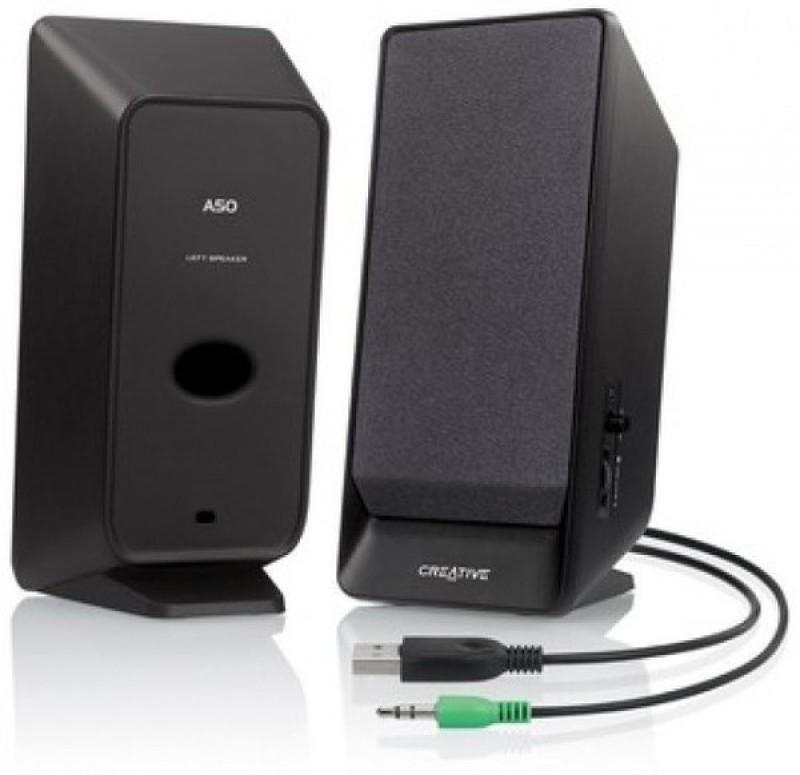 Creative A50 Laptop/Desktop Speaker(Black, 2 Channel)