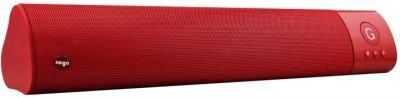 ROQ Wm-1300 High Bass Portable Bluetooth Soundbar(Red, 2.0 Channel)