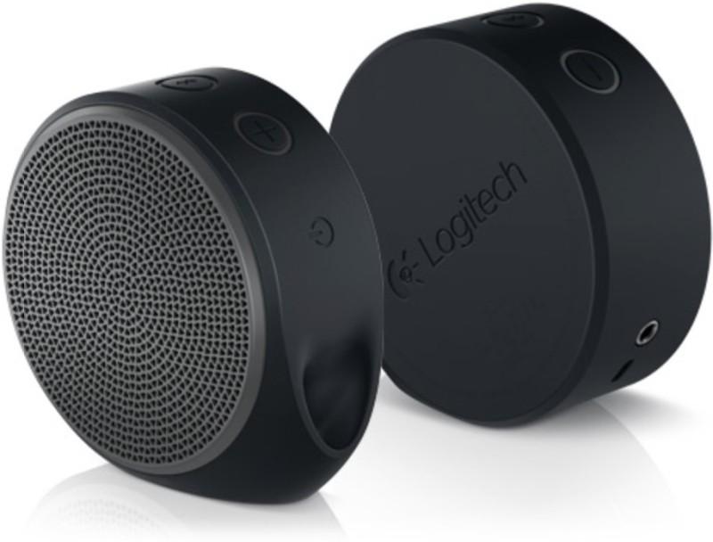 Logitech X100 Portable Bluetooth Mobile/Tablet Speaker(Grey, Single Unit Channel)