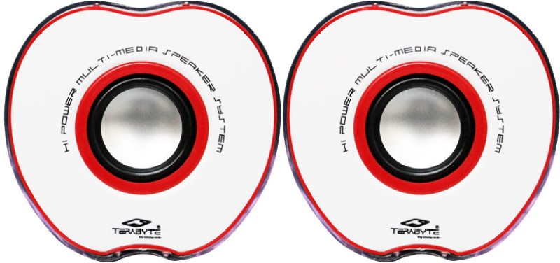 Tera byte TB-017R Portable Laptop/Desktop Speaker(Black & Red, 2.0 Channel)