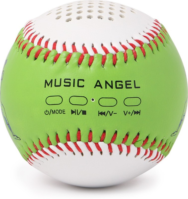 zydeco Music Angel Portable Bluetooth Home Audio Speaker(Green, 2.0 Channel)