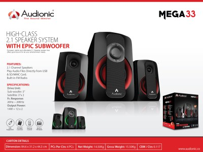 Audionic MEGA-33 Home Audio Speaker