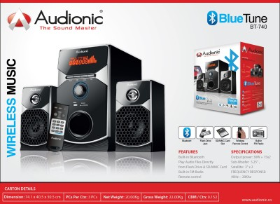 Audionic BLUETUNEBT-740 Bluetooth Home Audio Speaker