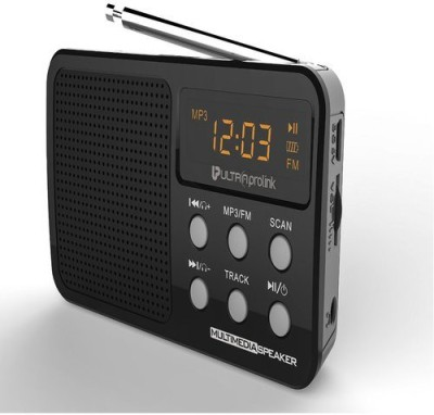 UltraProlink Retro Multimedia FM/MP3 Player UM0017 (Black) Portable Home Audio Speaker