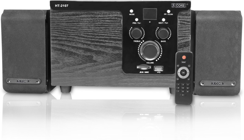 5 Core MULTIMEDIA SPK 21-07 FOR COMPUTER Home Audio Speaker(Black, 2.1 Channel)