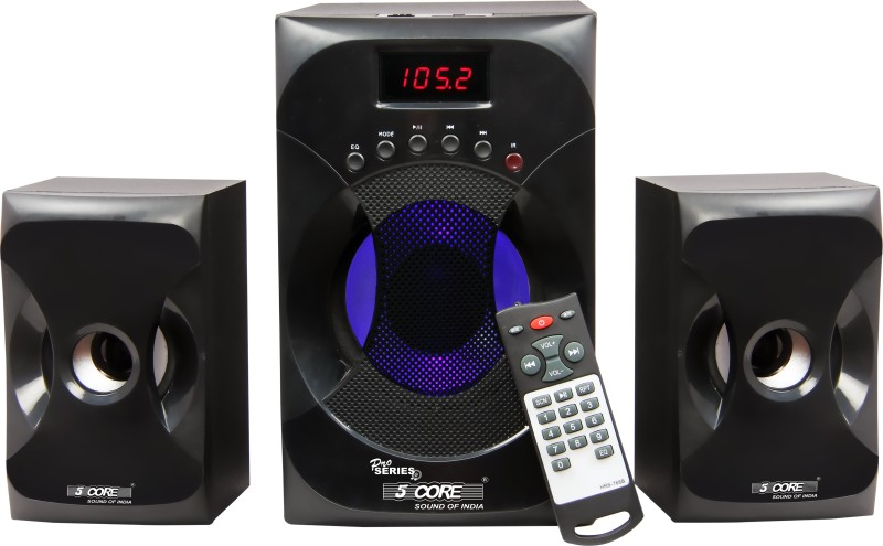 5 Core Multimedia SPK 2117 For Computer Home Audio Speaker(Black, 2.1 Channel)