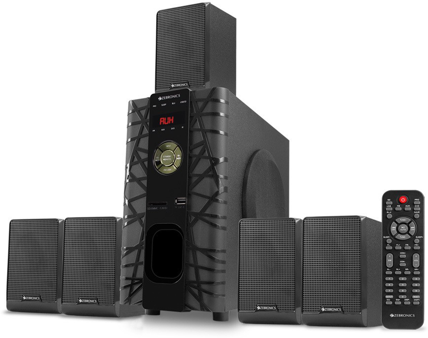 Zebronics zeb-bt6590rucf Bluetooth Home Audio Speaker(Black, 5.1 Channel)
