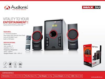 Audionic MAX-5U Home Audio Speaker