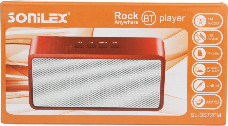 Sonilex SL-BS72FM Home Audio Speaker(Red, 2.1 Channel)