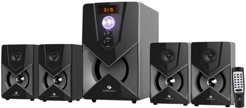 Zebronics SW3491 RUCF Home Audio Speaker(Black, 4.1 Channel)