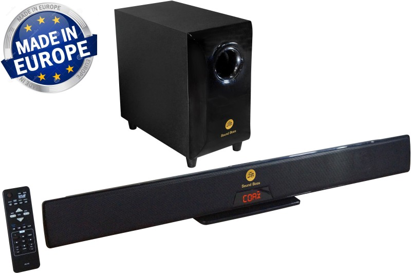 Sound Boss PS-110 4.1 CHANNEL SOUND BAR 11000 PMPO Home Audio Speaker(Black, 4.1 Channel)