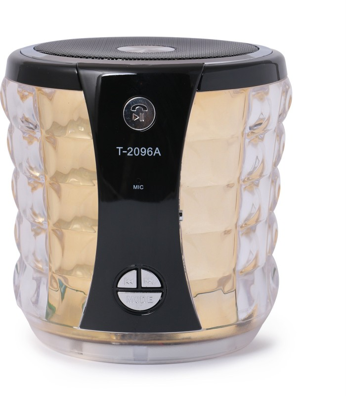 zydeco 2096A Portable Bluetooth Home Audio Speaker(golden, 2.0 Channel)