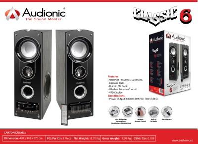 Audionic CLASSIC-6HOMETHEATRE Home Audio Speaker(Black, NA Channel)