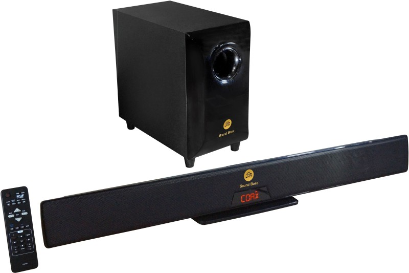 Sound Boss PS-110BT 4.1 CHANNEL 11000 PMPO SOUND BAR Bluetooth Home Audio Speaker(Black, 4.1 Channel)