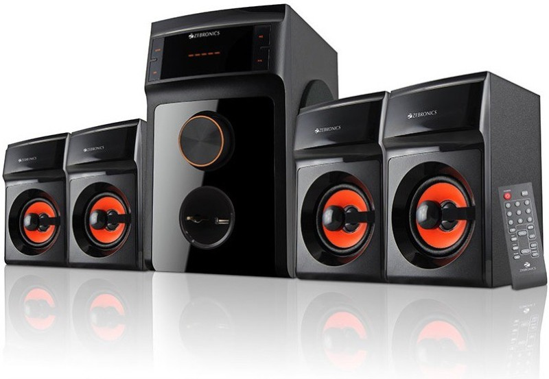 Zebronics SW4540 RUCF Home Audio Speaker(Black, 4.1 Channel)
