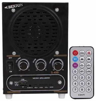Bexton Wired Metal Box with USB & FM Portable Home Audio Speaker