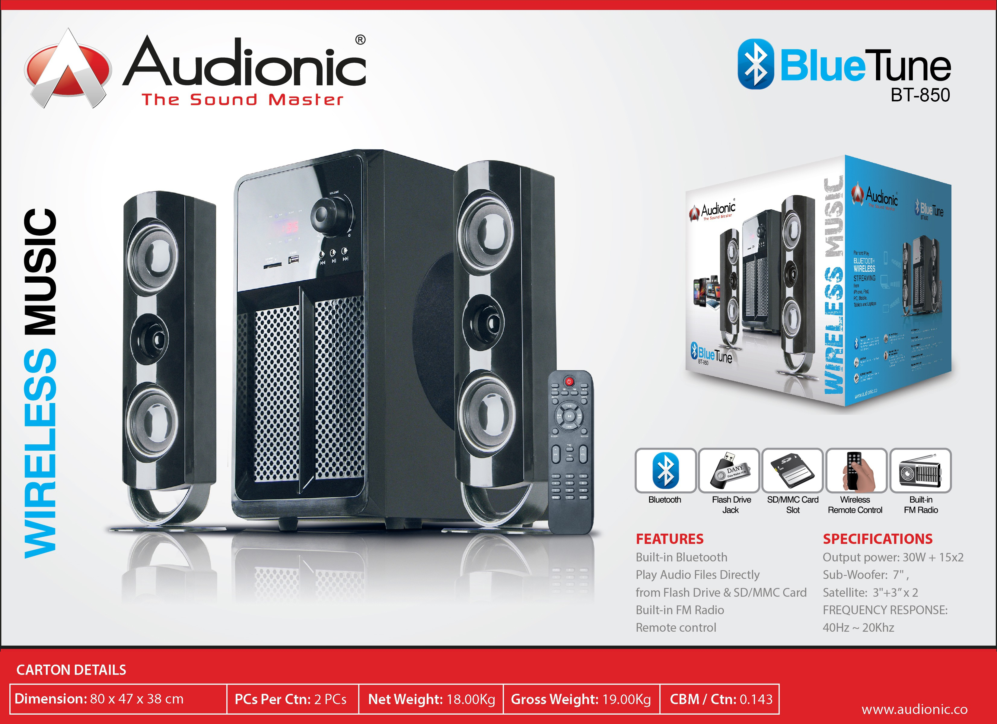 Speakers Boston Acoustics A 225c Audionic Bluetunebt 850 Bluetooth Home Audio Speaker