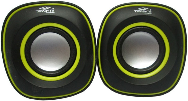Tera byte TB-015 Portable Laptop/Desktop Speaker(Black and Yellow, 2.0 Channel)